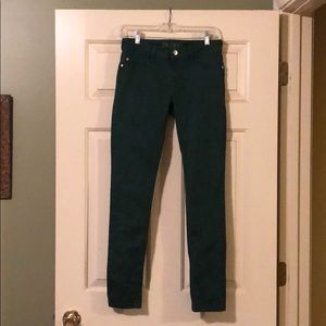 DL1961 Amanda Skinny Sz 27. Green inseam 28 ankle